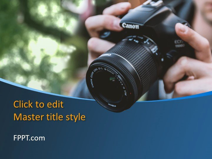 Photography Powerpoint Template Of Camera Powerpoint Template