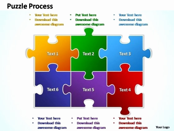 Puzzle Powerpoint or Jigsaw Puzzle Presentation Template