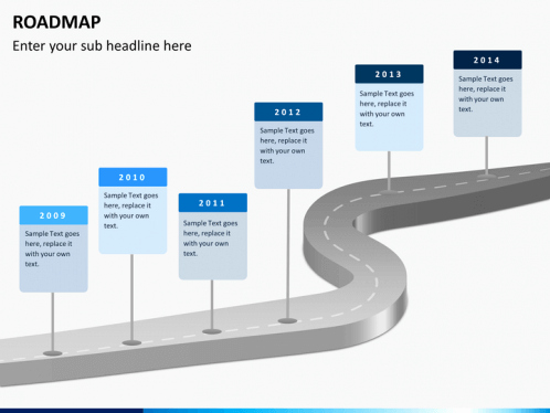 Road Powerpoint Template Of Roadmap Powerpoint Template
