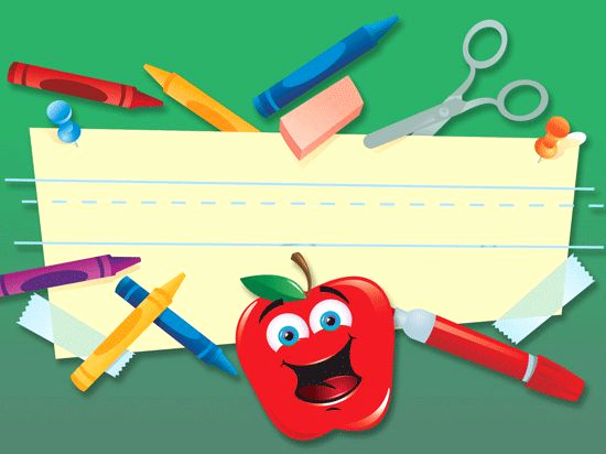 School Powerpoint Template and School Supplies Schools and Templates On Pinterest
