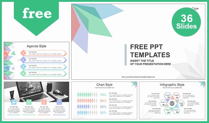 Simple Powerpoint Template for Abstract Leaves Powerpoint Template