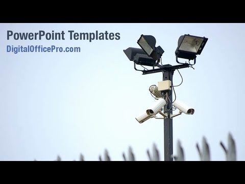 Video Powerpoint Template and Cctv Cameras Powerpoint Template Backgrounds