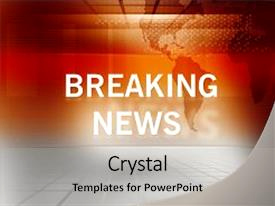 Breaking News Powerpoint Template for Powerpoint Template News Flash Graphical Breaking