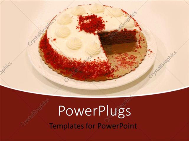 Cake Powerpoint Template and Powerpoint Template White and Red Chocolate Cake with A