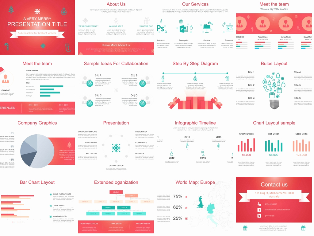 Design Powerpoint Template then Download Our Free Christmas themed Powerpoint Template