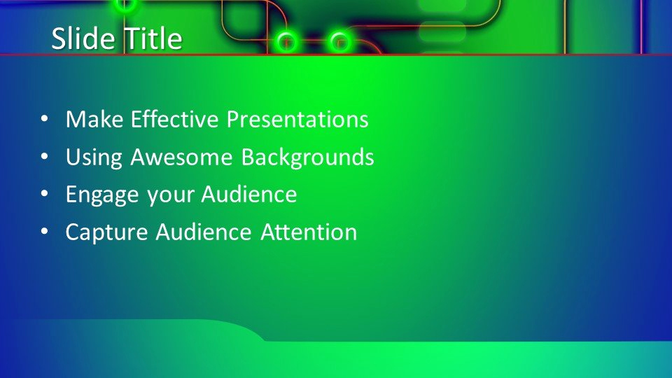 Free Green Powerpoint Template for Free Green Tech Powerpoint Template Free Powerpoint