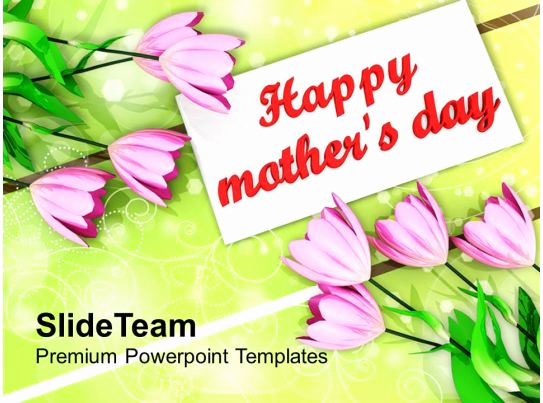 Mothers Day Powerpoint Template and Bouquet Tulips Mothers Day Powerpoint Templates Ppt