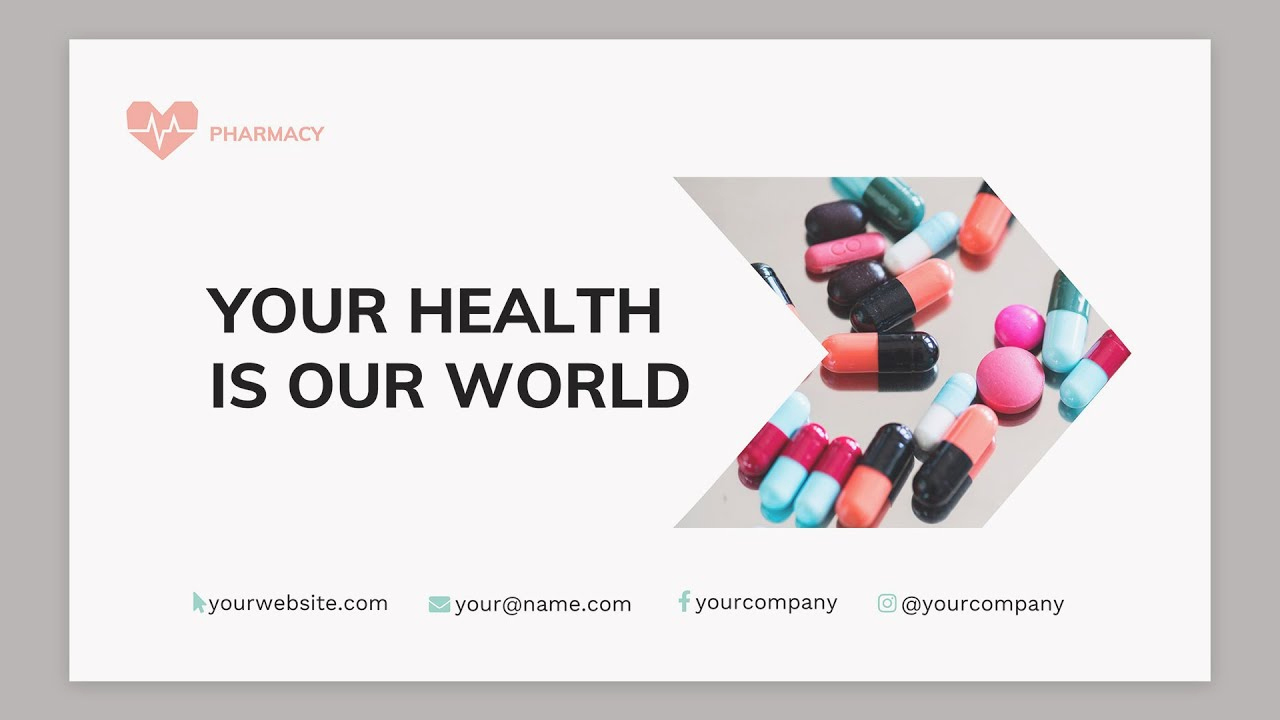 Pharmacy Powerpoint Template or Pharmacy Powerpoint Presentation Template