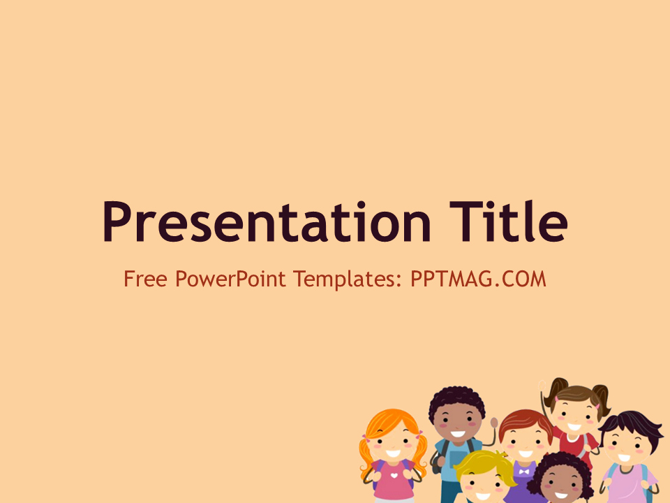 Youth Powerpoint Template Of Free Children Powerpoint Template Pptmag